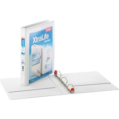 "Cardinal Clearvue Binder D-Ring 1"" Capacity 11""x8-1/2"" White 26300CB"