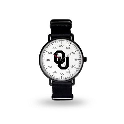 NCAA Oklahoma Sooners Men's Analog Watch - Black