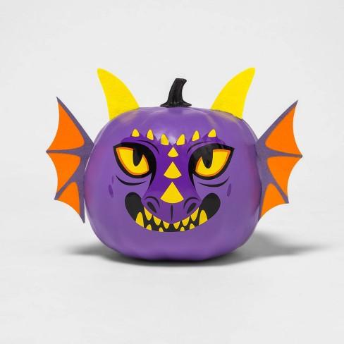 Painted Pumpkin Dragon Character Halloween Decorative Sculpture - Hyde & EEK! Boutique™ - image 1 of 3