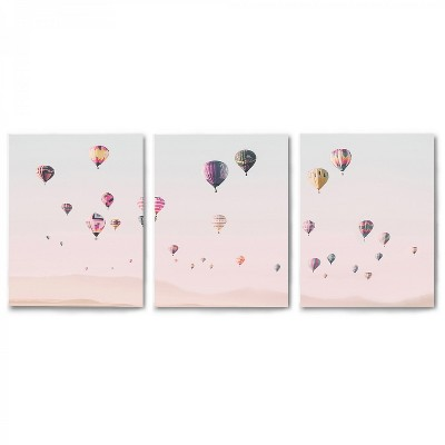 Americanflat Triptych Turkish Hot Air Balloons by Sisi and Seb - Set of 3 Canvas Prints