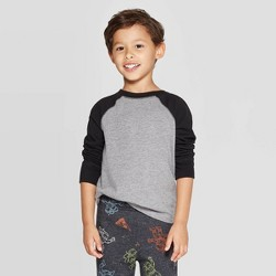 Toddler Boys' Long Sleeve Baseball T-Shirt - Cat & Jack™ Black