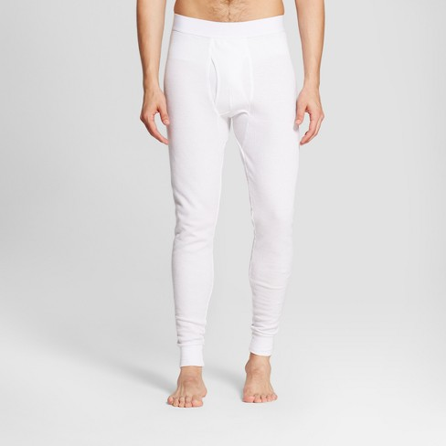 Men's Micro Thermal Pants - Goodfellow & Co™ White XL - image 1 of 3