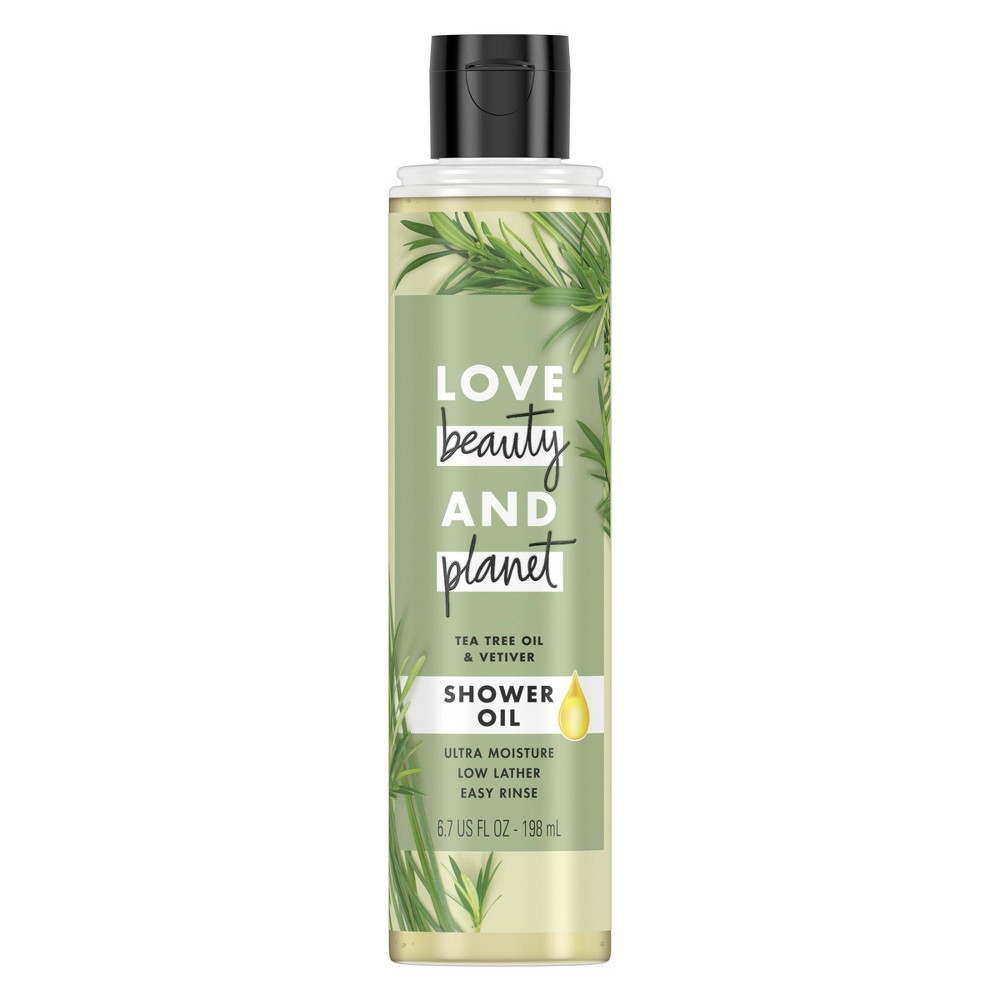 Image of Love Beauty & Planet Tea Tree Oil & Vetiver Shower Oil Body Wash Soap - 6.7 fl oz