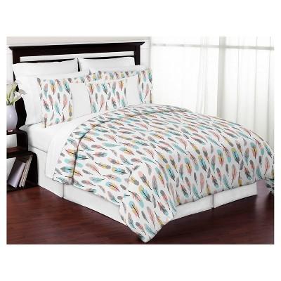 Gray & Coral Comforter Set (Full/Queen) - Sweet Jojo Designs
