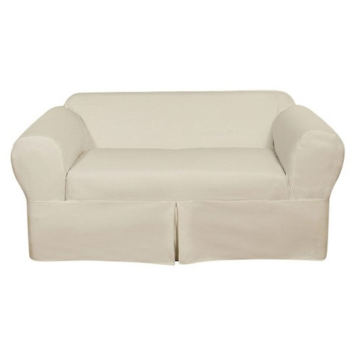 White Wrap Loveseat Slipcover (2 Piece)