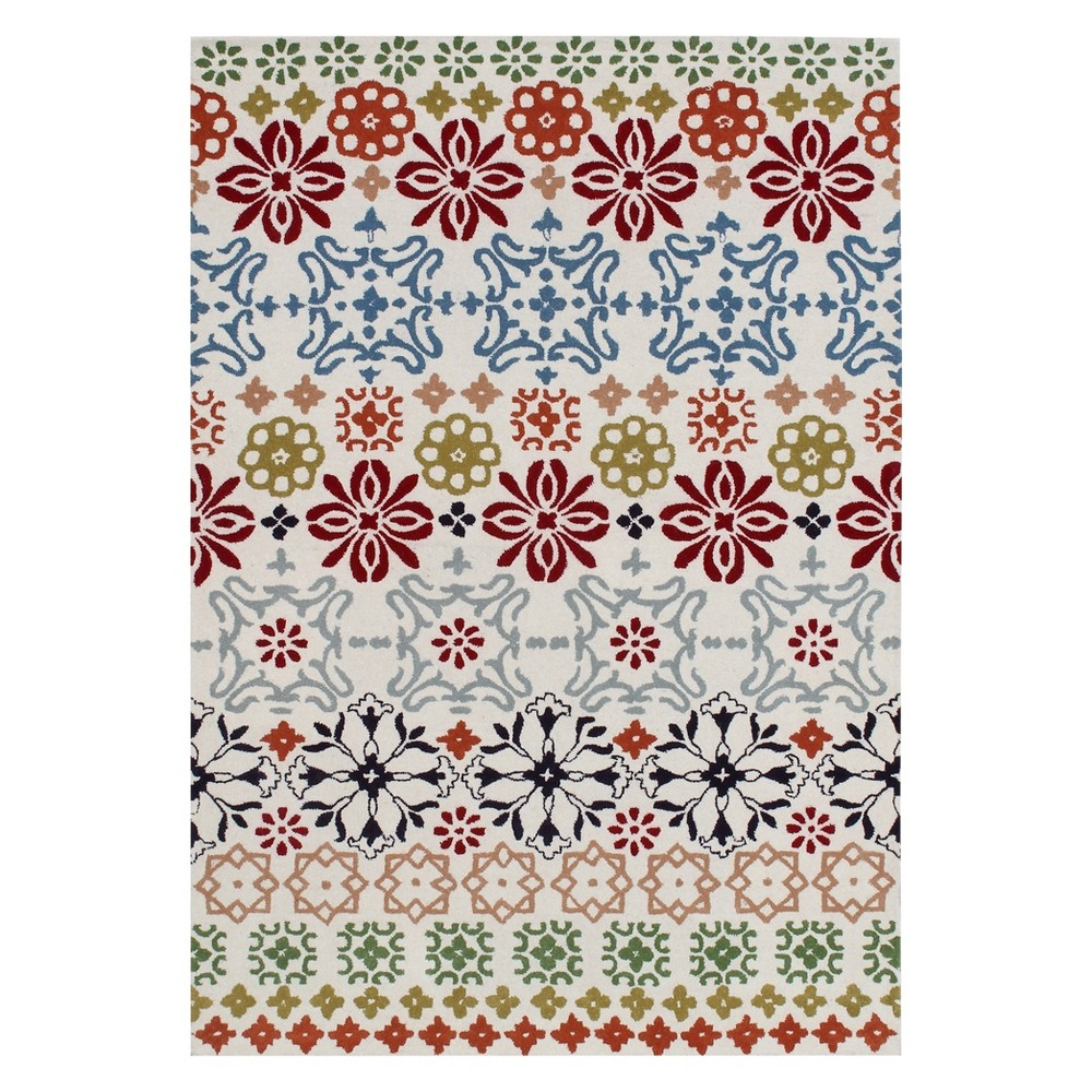8'9X12' Floral Tufted Area Rug Ivory - Safavieh, White