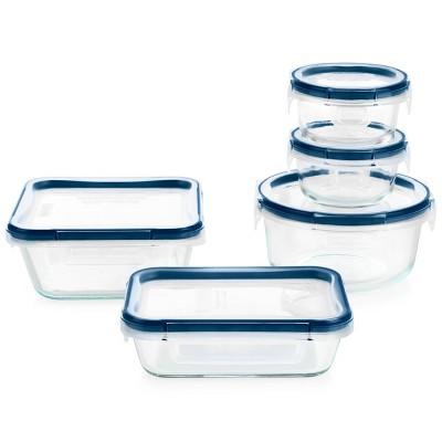 Pyrex 10pc Freshlock Microban Glass Food Storage Set