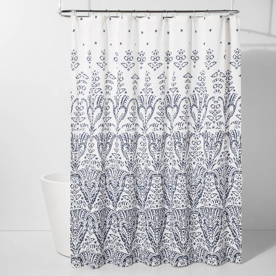 Ogee Ombre Shower Curtain Blue/White - Threshold™