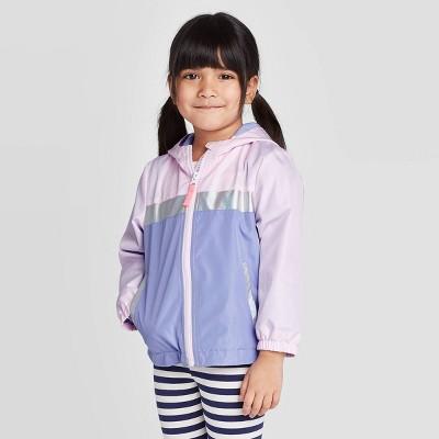 Toddler Girls' Colorblock Windbreaker Jacket - Cat & Jack™ Purple/Pink 2T