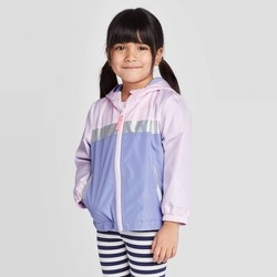 Toddler Girls' Colorblock Windbreaker Jacket - Cat & Jack™ Purple/Pink