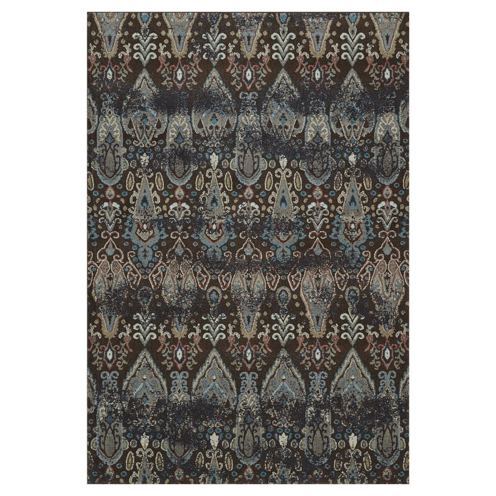 "Image of ""Chocolate (Brown) Abstract Woven Area Rug - (7'10""""X10'8"""")"""
