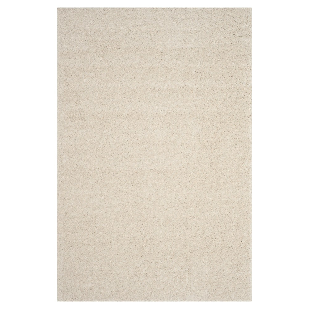 Cream Solid Loomed Area Rug - (5'1