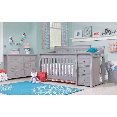 Sorelle Princeton Elite Crib & Changer Weathered Gray