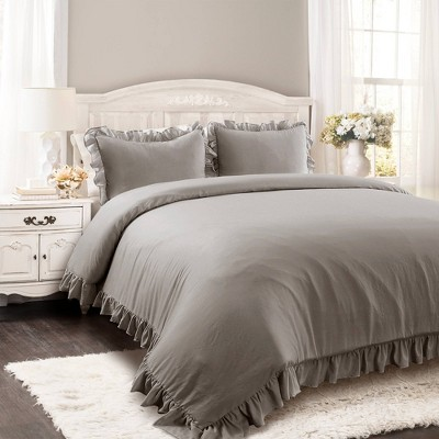 Full/Queen Reyna Comforter Set Gray - Lush Décor