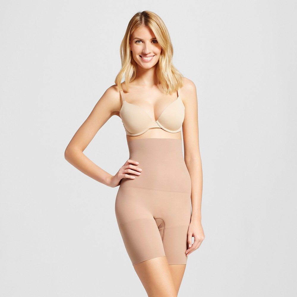 Maidenform Self Expressions Women's Seamless High Waist Thigh Slimmer SE3047, Size: Small, Brown Shimmer