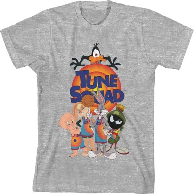 Space Jam 2: A New Legacy Tune Squad Grey Youth Boys Short Sleeve T-shirt