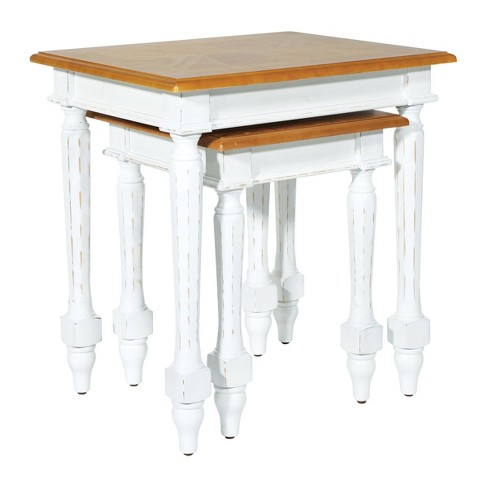 Medford Nesting Tables Distressed White - OSP Home Furnishings - image 1 of 4
