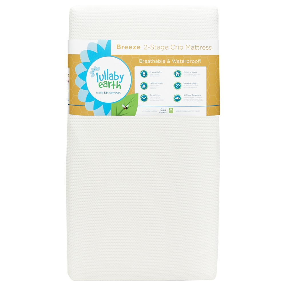 Image of Lullaby Earth Breeze Breathable Baby Crib & Toddler Mattress 2-Stage, White