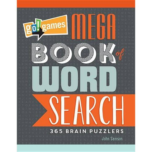 Go!games Mega Book of Word Search - by  John M Samson (Paperback) - image 1 of 1