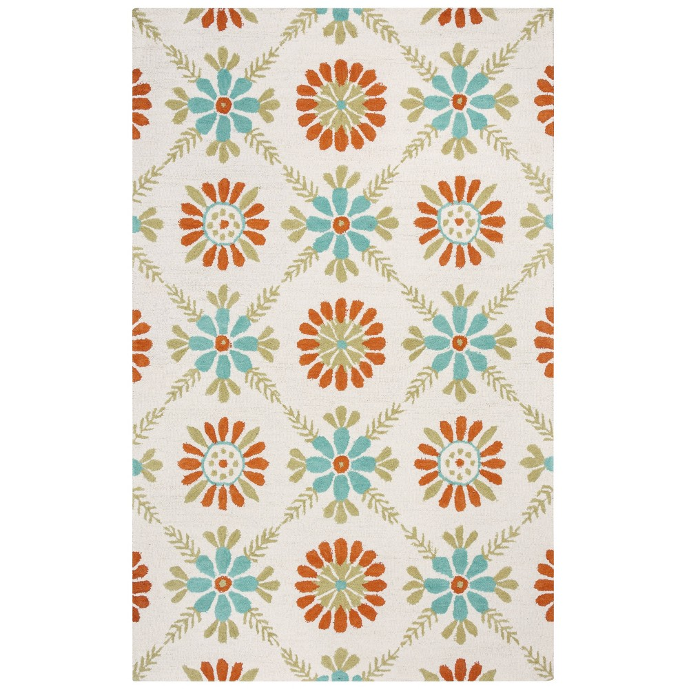 8'X10' Trellis Floral Area Rug Red - Rizzy Home