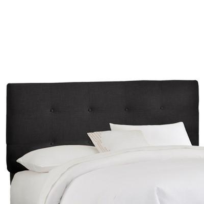 California King Dolce Headboard Black Linen - Cloth & Co.