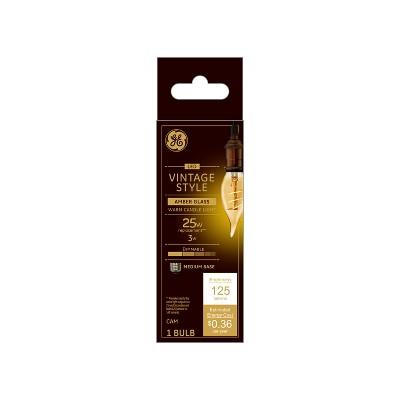 General Electric VintaDeco Spiral Amber LED Light Bulb White