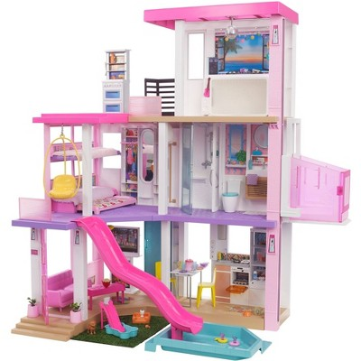 Barbie DreamHouse Dollhouse with Pool, Slide, Elevator, Lights & Sounds 3.75'