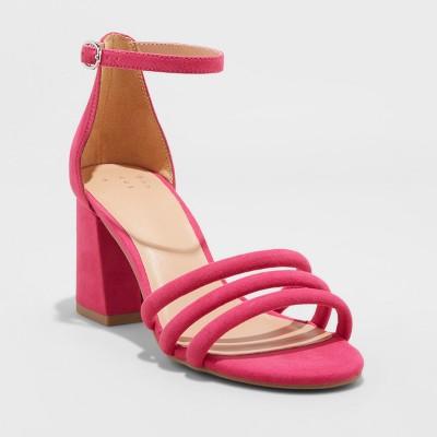 c67b13a86183 Women s Krysten Block Heel Pumps - A New Day™ Pink 11   Target