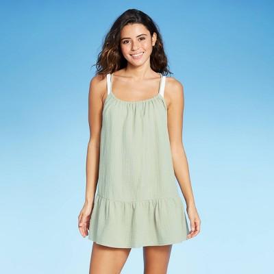 Juniors' Flounce Mini Cover Up Dress - Xhilaration™