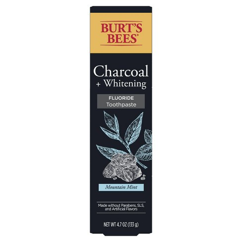 Burt's Bees Toothpaste Charcoal with Fluoride Peppermint - 4.7 oz - image 1 of 4