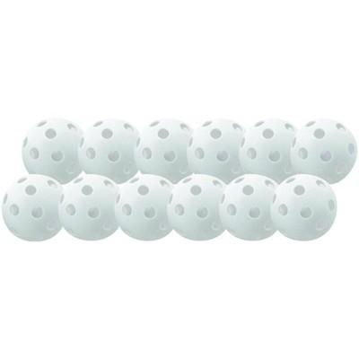 Champion Sports Plastic Baseball Set, White, set of 12