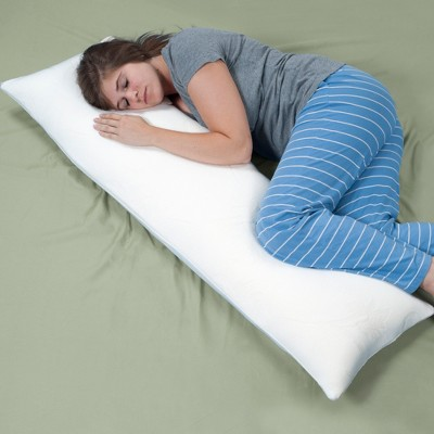 Memory Foam Body Support Pillow White - Yorkshire Home®
