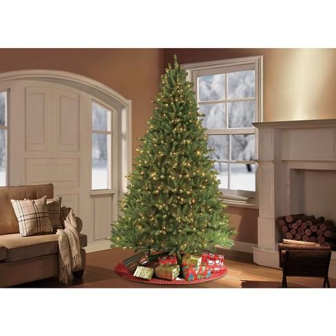 - 10ft Prelit Artificial Christmas Tree Forest Fir : Target