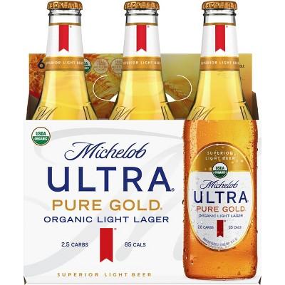 Michelob Ultra Pure Gold Organic Light Beer - 6pk/12 fl oz Bottles