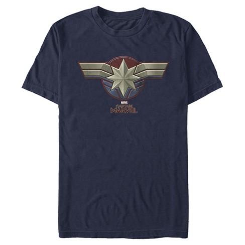 Men's Marvel Captain Marvel Movie Chest Symbol T-Shirt - image 1 of 1
