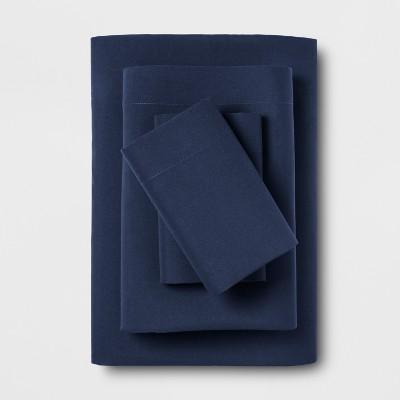 Microfiber Solid Sheet Set (Queen)Navy - Room Essentials™