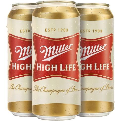 Miller High Life Beer - 4pk/16 fl oz Cans - image 1 of 2