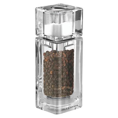 Cole & Mason Square Acrylic Salt Shaker & Pepper Grinder Combo