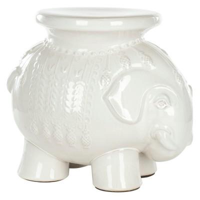 Elephant Garden Stool - White - Safavieh