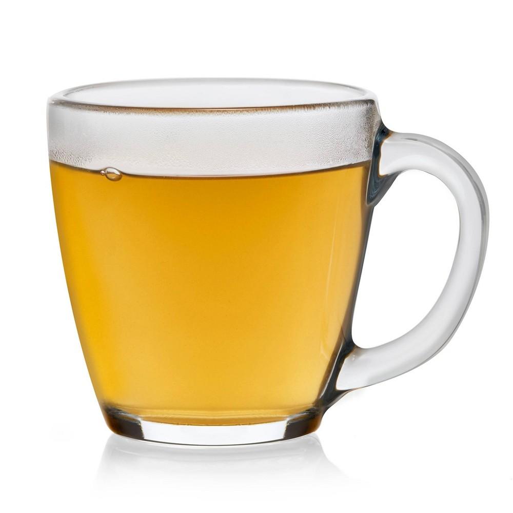 Libbey Tapered Glass Irish Coffee Mugs 15.5oz - Set of 8, Clear