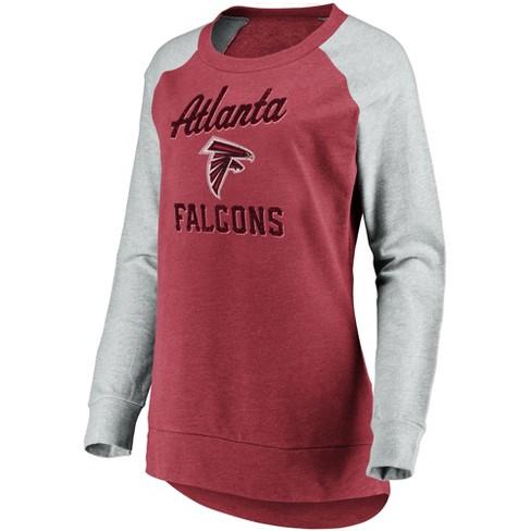 afae1ed95 NFL Atlanta Falcons Women s Brushed Tunic  Gray Crew Neck Fleece Sweatshirt