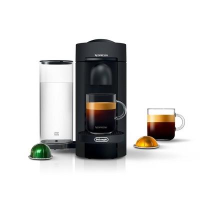 Nespresso VertuoPlus Coffee and Espresso Machine by De'Longhi – Black Matte