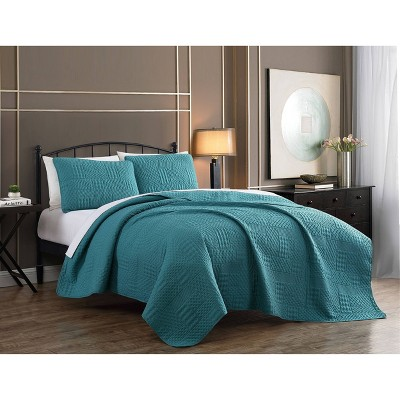 Yardley Embossed Quilt Set - Geneva Home Fashion