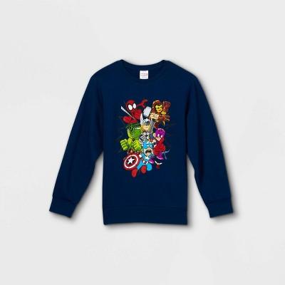 Kids' Marvel Pullover Sweatshirt - Blue