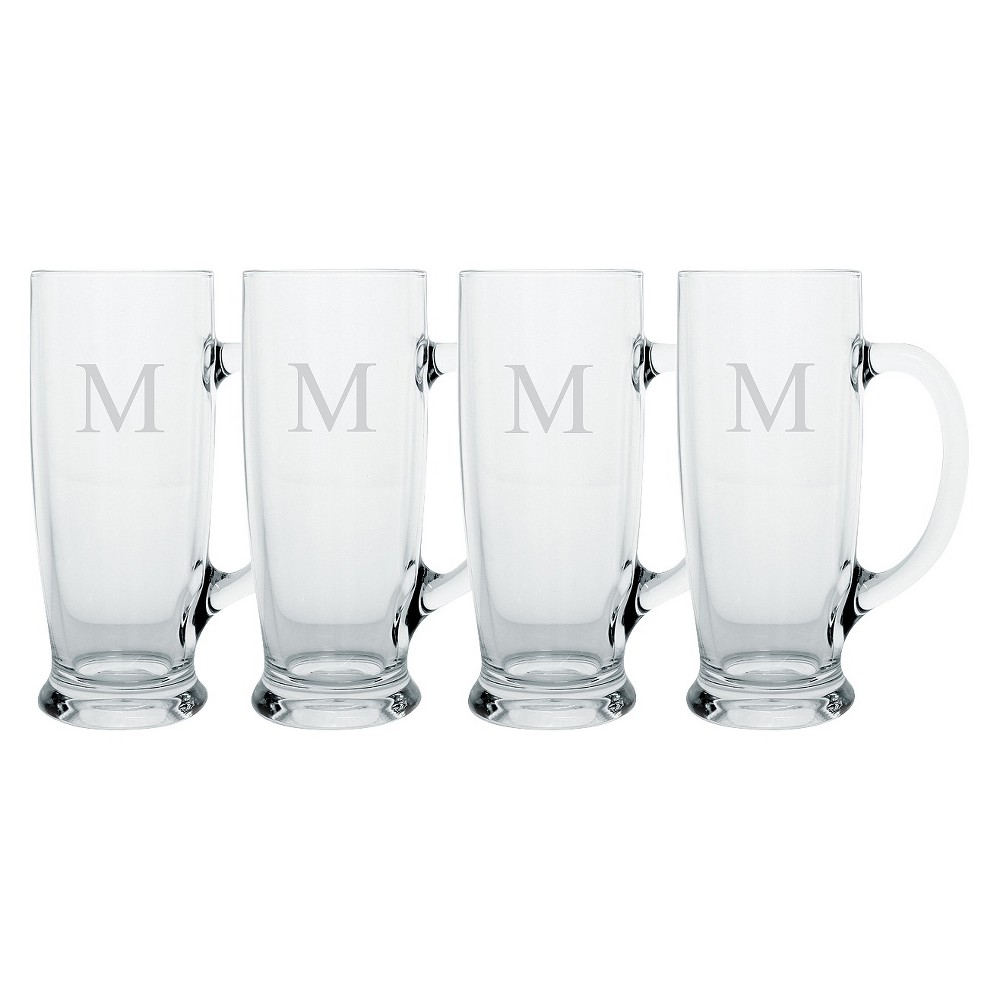 Cathy's Concepts 18oz 4pk Monogram Craft Beer Mugs L