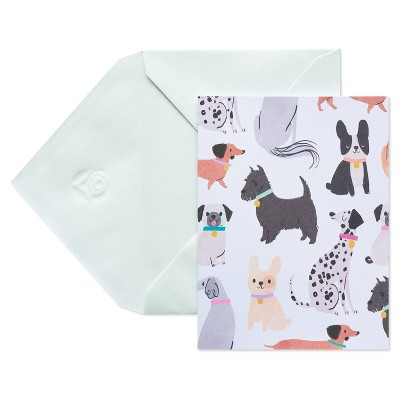 10ct Blank Carlton Cards with Envelopes Dogs