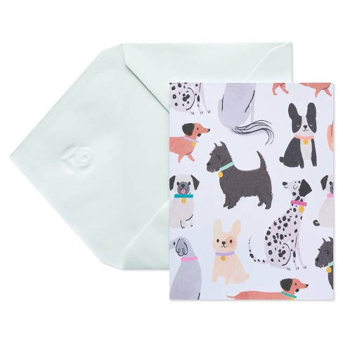 10ct Blank Carlton Cards with Envelopes Dogs - image 1 of 4