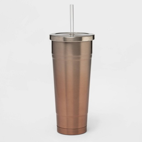 25oz Stainless Steel Tumbler with Straw Parlor Pink - image 1 of 1