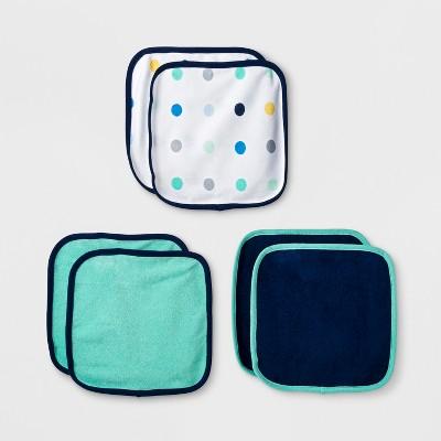 Baby Boys' Gone Wild 6pk Washcloths - Cloud Island™ Blue