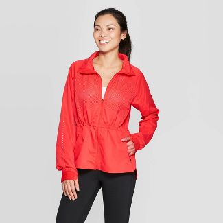 Women's Woven Running Overcoat Jacket - C9 Champion® Red Flame XS